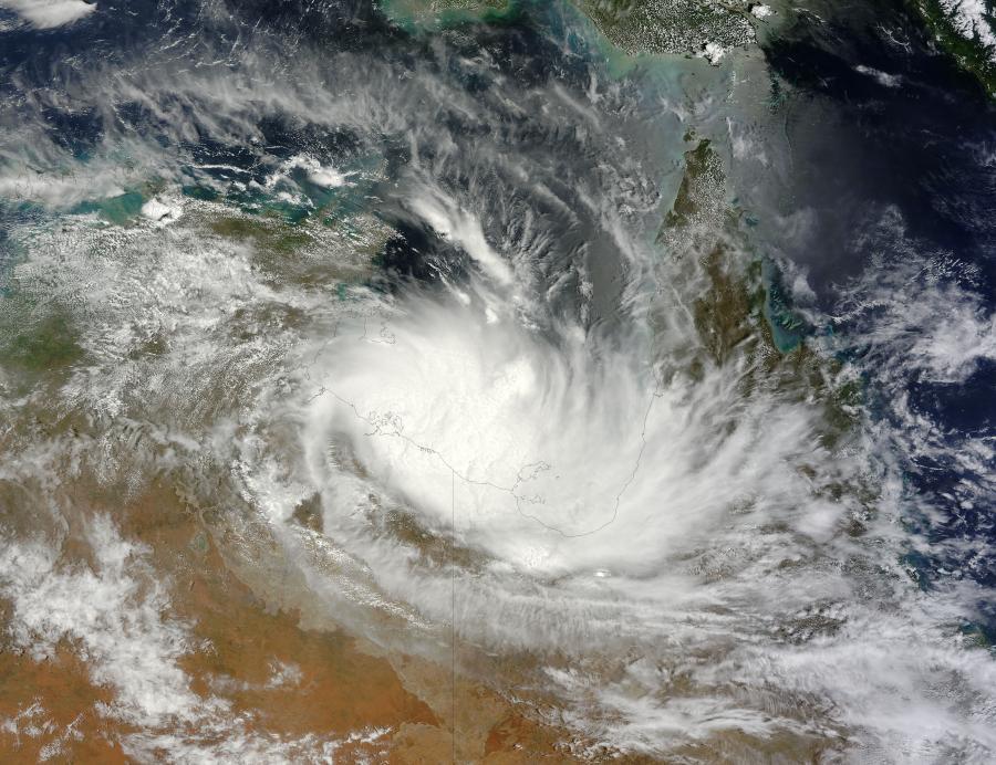 Tropical Cyclone Alessia (02S) over Australia