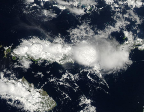 Clouds over Flores Island, Indonesia