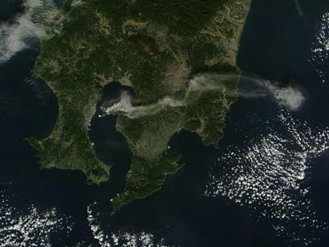 Plume from Sakura-jima, southern Japan