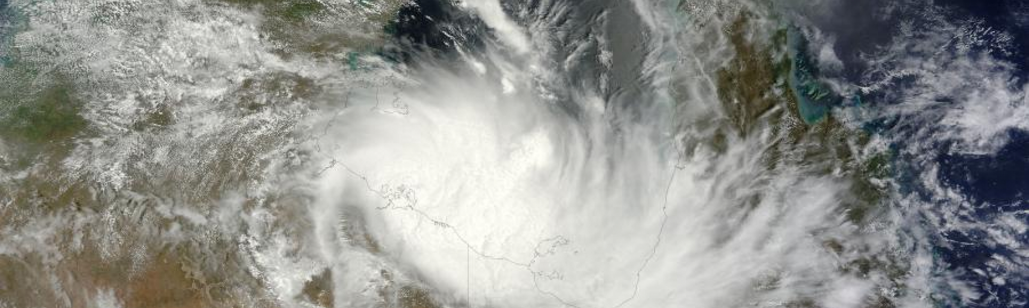 Tropical Cyclone Alessia (02S) over Australia